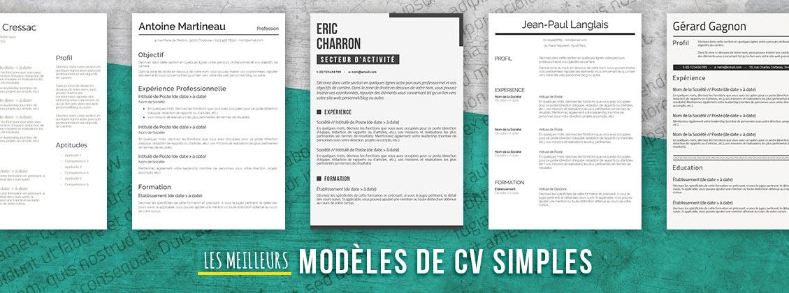 meilleurs modeles de CV simples