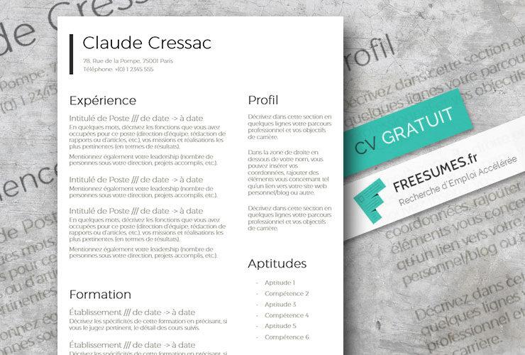 modele cv classique