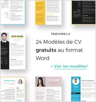 modèles de CV gratuits